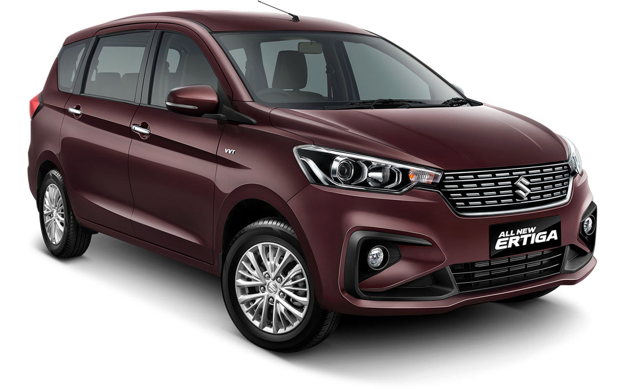 All New Ertiga Burgundy Red